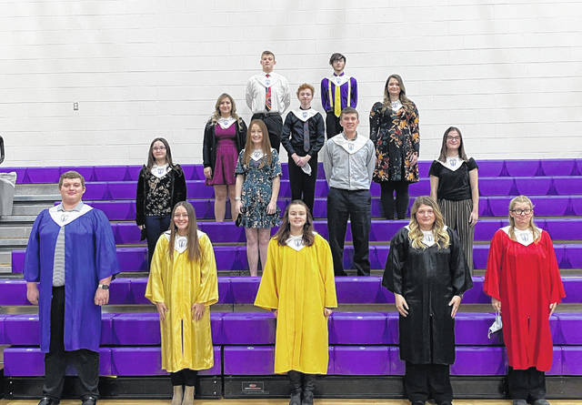 New members were inducted into the Southern High School National Honor Society during a ceremony at the school on Friday, Dec. 18. Pictured are the new members along with current members, front to back, (left to right) David Shaver, Abby Rizer, Natalie Harris, Caelin Seth, Kristin McKay, (second row) Julia Pritt, Molly Hill, Tanner Lisle, Brooke Crisp. (third row) Cassandra Durham, Hunter Person, Logan Greenlee. Back Row, Lincoln Rose, Kyler Rogers.