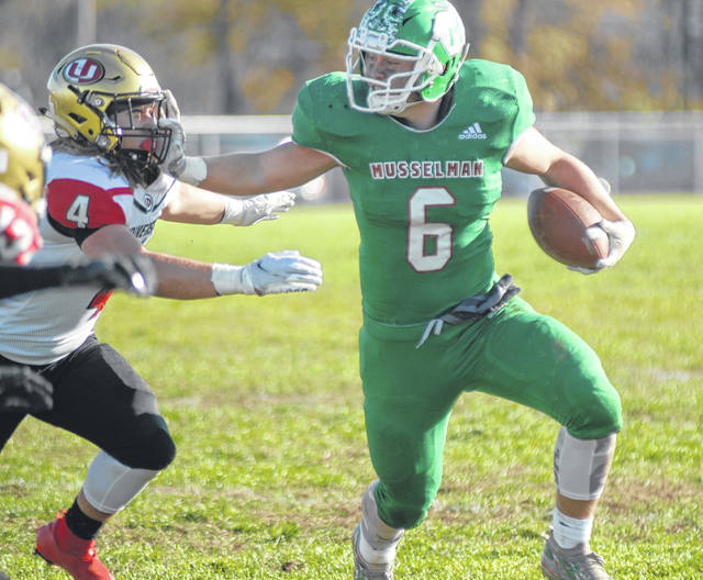 Musselman's Kennedy Award-winning running back Blake Hartman also claimed the Curt Warner Award as the state's top running back this past season.