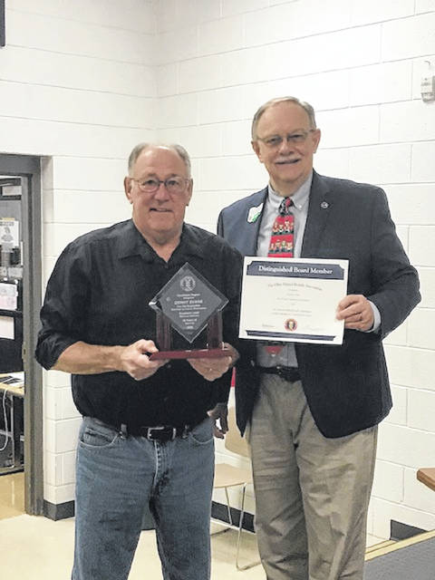 Denny Evans was recently recognized for 30 years of service on the Southern Local Board of Education.