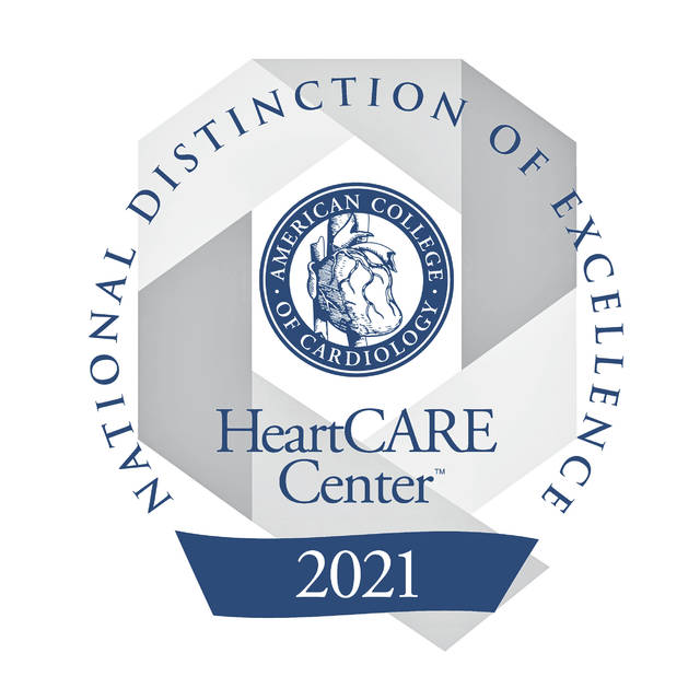 HeartCARE Center National Distinction of Excellence