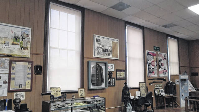 The John Gee Black Historical Center in Gallipolis has reopened to the public. Pictured are some of the special, new blinds meant to protect the Center's artifacts from any harmful light. (Robin Payne   Courtesy)