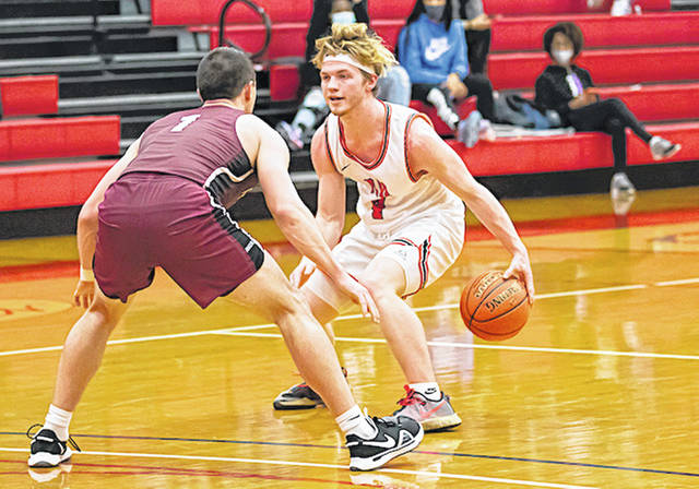 Rio Grande's Andrew Shull scored 18 points and had four steals in Thursday night's 90-64 rout of Ohio Christian University at the Maxwell Center in Circleville, Ohio. The RedStorm improved to 13-8 with the victory.