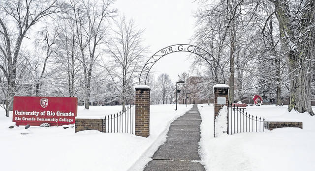 The University of Rio Grande has announced a reduction in tuition costs and states it is investing in more student support services. Pictured is the main campus in Rio Grande covered in snow. (Rio | Courtesy)