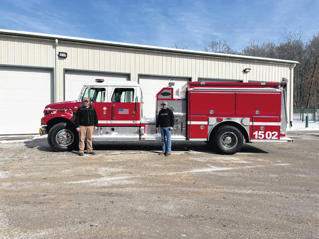 The Olive Twp. Volunteer Fire Department recently received a fire truck from ODNR.