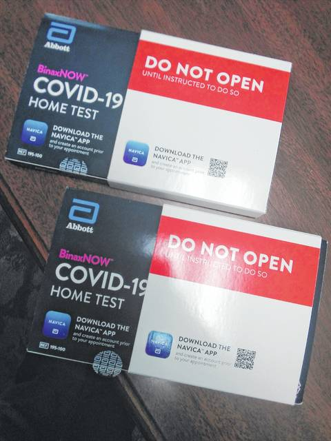 At-home COVID-19 test kits are now available at the Meigs County Library in Pomeroy.