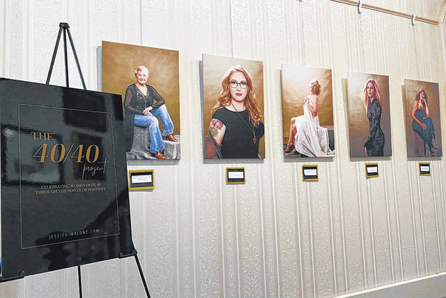 """Pictured are portraits from Jessica Malone's """"40/40 Project"""" currently showing at the French Art Colony in Gallipolis."""