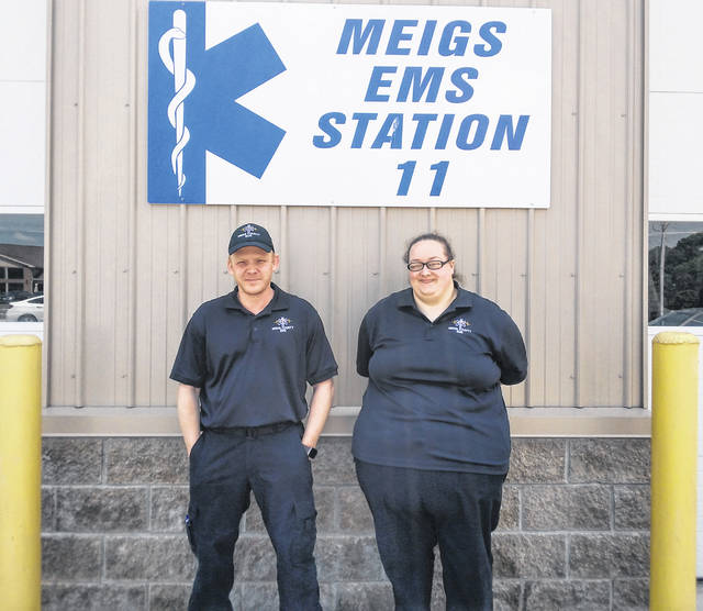 Billy Propes and Natalie Michael were recognized as the Meigs County EMS employees of the year for 2020.