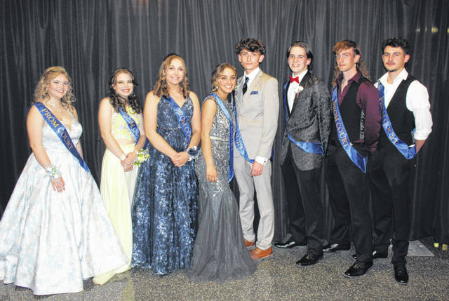 The 2021 Meigs High School Prom King and Queen were crowned during the prom held on Saturday evening at Meigs High School. Brody Hawley was crowned the 2021 Meigs High School Prom King and Valerie Darnell was crowned the 2021 Meigs High School Prom Queen. The 2021 Prom Court (from left) included Marissa Allen, Annika McKinney, Sydney Jones, Valerie Darnell, Brody Hawley, Jake Buckley, Blake Pitchford, and Will Sargent.