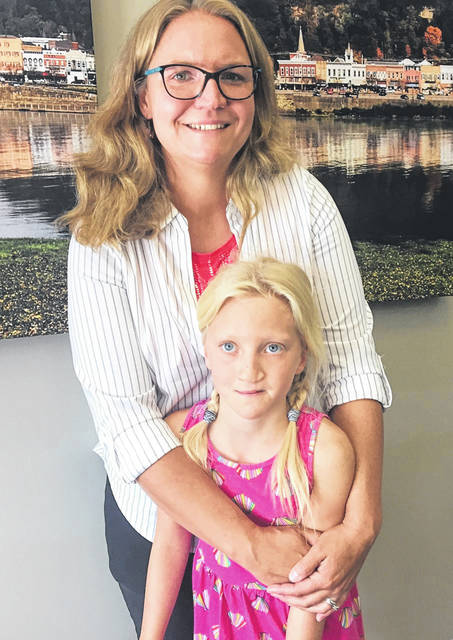 Chelsa Dilcher was joined by daughter Jordynn Buehner during the book signing at the Pomeroy Library on Friday.