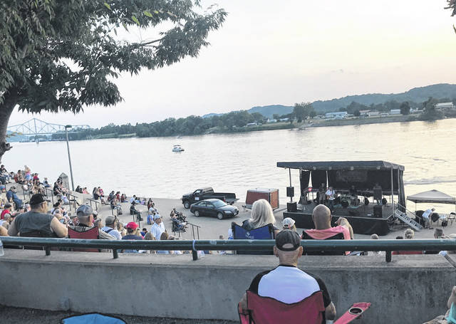 The amphitheater at Riverfront Park has played host to several concerts over the summer, including all performances of Mayor's Night Out which returns this Friday. Pictured is a recent night of live music during Liberty Fest along the river.