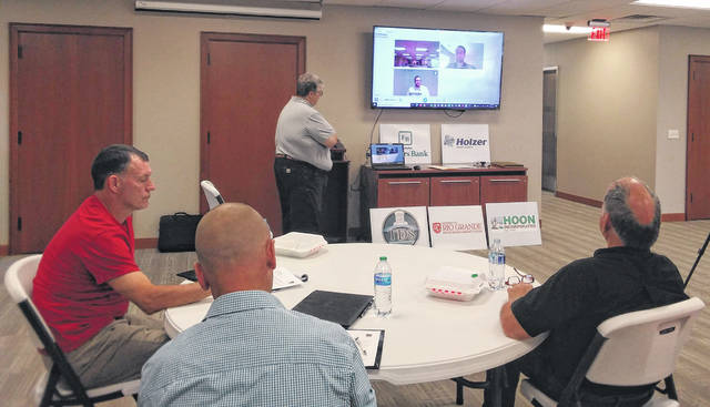Dave Hannum of New Era Broadband led the Meigs County Chamber and Tourism lunch and learn on cyber security.