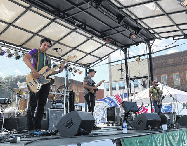 The Labra Brothers perform at the 2019 Blues Bash in Pomeroy.