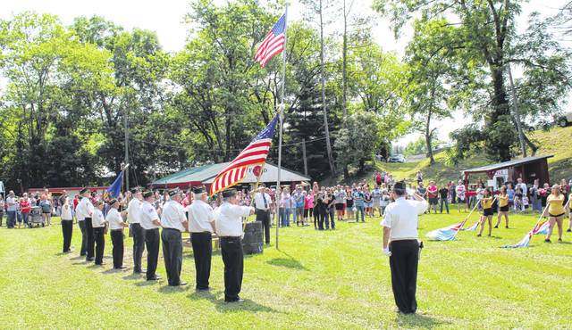 American Legion Drew Webster Post 39 conducted the flag raising ceremony following the Independence Day parade in Rutland on Saturday.
