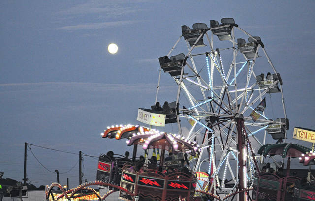 Rides will once again light up the Meigs County Fairgrounds.