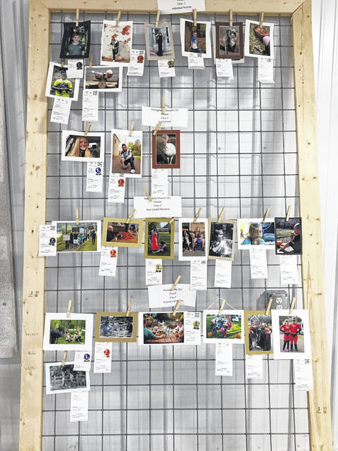 A view of photography submissions at the Meigs County Fair.