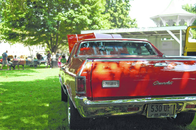 The car show in Gallipolis typically offers a wide variety of automobiles in varying degrees of completion. Pictured from a previous show is this Chevy El Comino. This year's show returns Saturday to First Avenue and Gallipolis City Park.