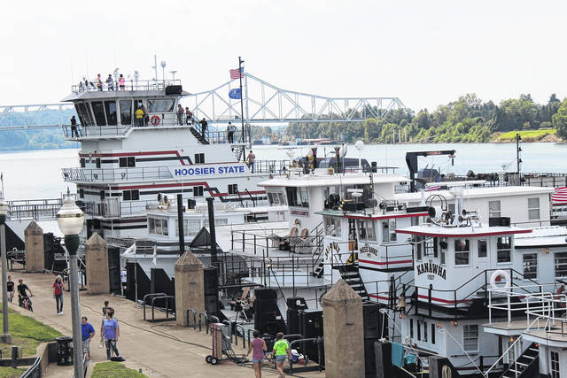 Pictured is Riverfront Park during a previous Tribute to the River festival.