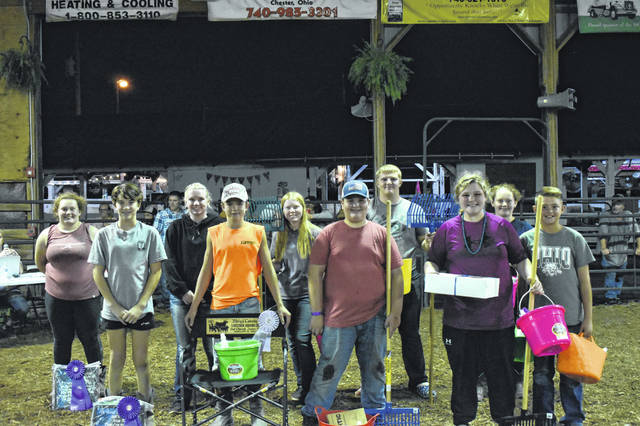 Pictured here are the top five finishers in each age group. Pictured from left are: Shelby Runyon, Kendall Schagel, Whitney Durst, Wyatt Smith, Jaycie Jordan, Tyson Hupp, Steven Fitzgerald, McKenna Rankin, Cassidy Runyon, and Maveryk Lisle.