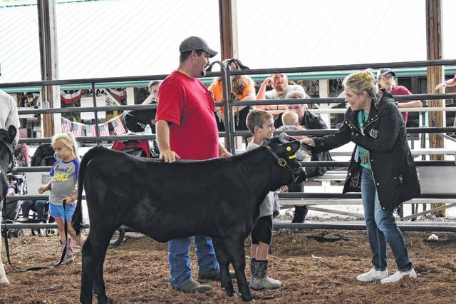 Some Cloverbuds brought in animals during the show and tell at the recent Meigs County Fair.