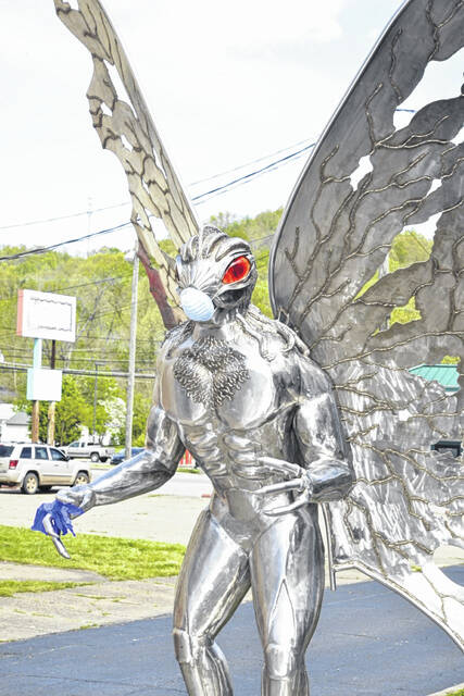 The Mothman Statue in downtown Point Pleasant, pictured, remains a tourist destination. This year, COVID-19 concerns canceled the annual festival which would've taken place this weekend.