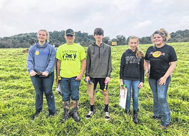 Southern's Rural Soils Team, pictured from left, Cassidy Bailey, Corey Seth, Anthony Whobrey, Hannah Turley, and Keiran Johnson