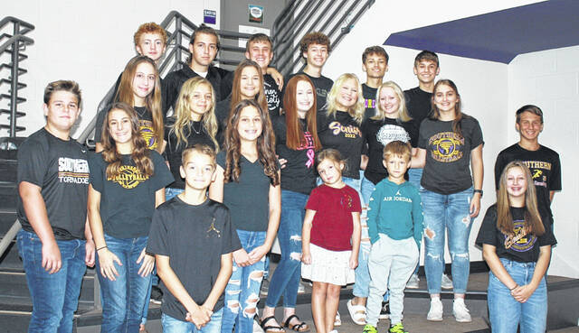 Pictured are members of the 2021 Homecoming Court, including king candidates, queen candidates and attendants from seventh grade through 11th grade. Not pictured is Jace Hill, sophomore escort. A complete list of the court appears in the story.