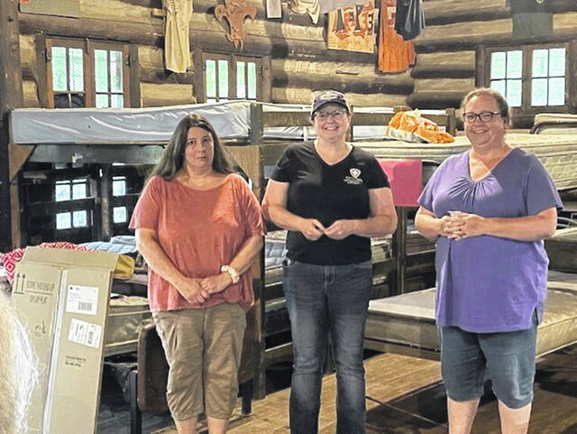 Dawn Keller, at left, and Michelle Willard, at right, were recognized for five years of service to the Meigs County Health Department by Administrator Courtney Midkiff.