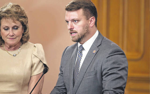 Pictured is State Rep. Jay Edwards (R-Nelsonville). Edwards, along with Rep. Gail Pavliga (R-Portage County) recently introduced House Bill 428, which creates the Adverse Childhood Experiences (ACEs) Study Commission.