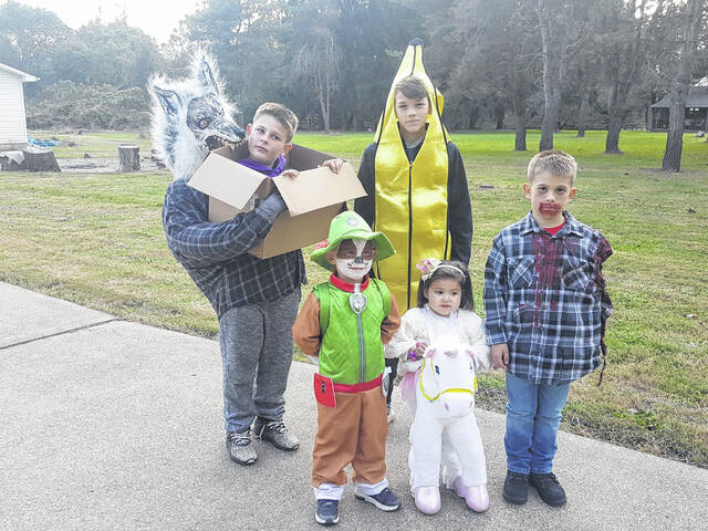 Trick-or-treat times have been set across Meigs County. Pictured in this file photo are trick-or-treaters in Syracuse.