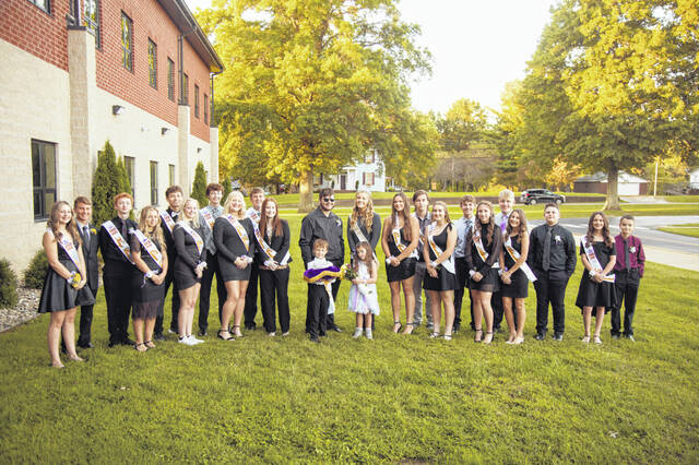 Pictured are members of the homecoming court during last week's game at Southern High School.