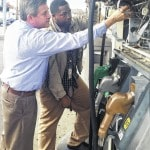 County Weights & Measures inspectors search gas stations for credit card skimmers