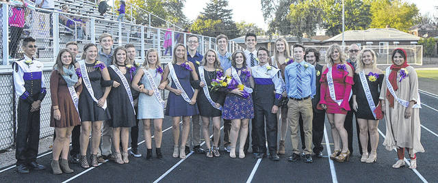 Clara Fiori was named the Butler Homecoming Queen prior to the Aviators' 38-14 win over Greenville.