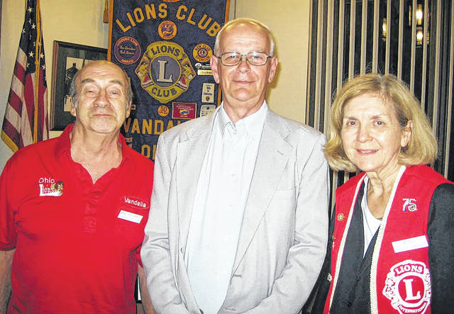 """<style type=""""text/css""""></style> <p class=""""p1"""">Pictured are Lion President Jerry Marratta, Author Scott Trostel, and Lion Program Chair Dee Smith. Staff report"""