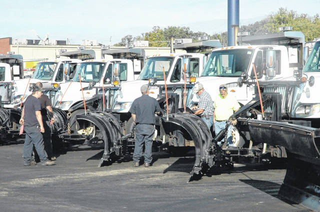 <strong>ODOT personnel at the Montgomery County Garage on Smith Drive in Englewood are shown conducting 'Operational Readiness Inspections' of all equipment Tuesday morning.</strong>