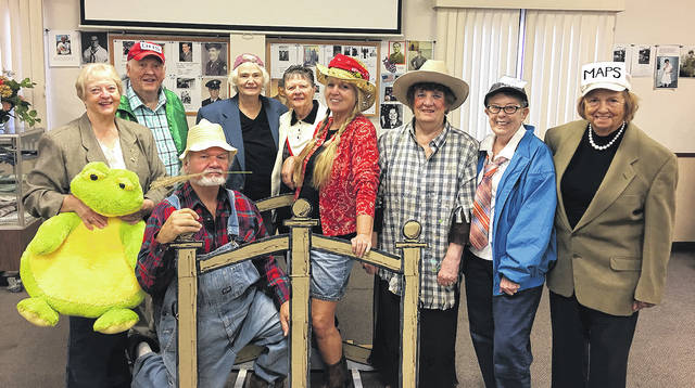 Members of the Vandalia Senior Center Reader's Theatre are front row, left to right, Marilyn Weber, Clyde Brewer, Irma Stamps, Jan Sanders, Pat Wilson, Barbara Ball; back row, left to right, Director Richard Sanders, Caroline Good, and Joyce Mason.