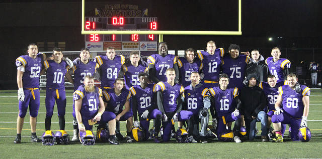 The Butler Aviators ended their 2017 season with a 21-13 win over Tippecanoe on Senior Night. The Aviators finished the season 4-6 overall and 2-3 in the Greater Western Ohio Conference North Division.