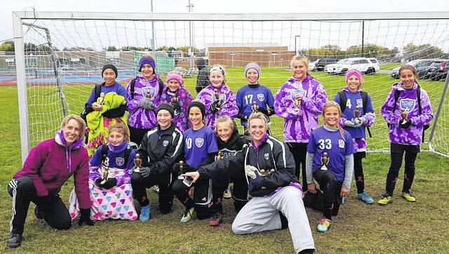 The Butler United U12 Girls Purple team recently ended their season with a 20-4-2 record.