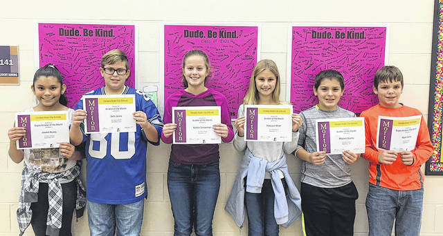 Congratulations to the sixth grade Morton Aviators of the Month for September. Pictured left to right are Joselin Nunez, Seth Jones, Natalie Schoenherr, Madyson Miller, Mitchell Strehle, and Wyatt Abney.