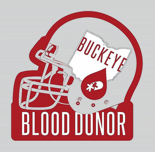 OH Buckeye Helmet Pocket Tee Red Snow