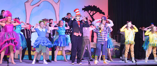Students from the School on the Rock will perform Seussical March 22-24 at the First Baptist Church Hangar in Vandalia.