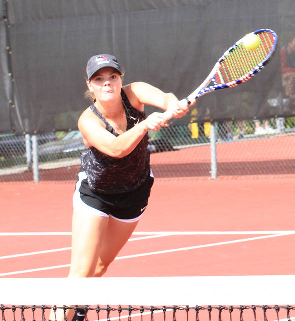 Morgan Jackson, a 2016 Butler graduate, was named the River States Conference Women's Tennis Player of the Week for March 19-25.