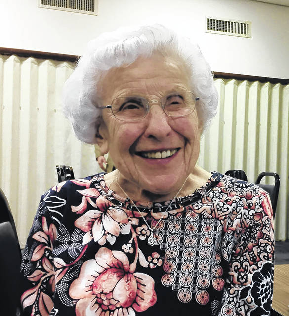 The Vandalia Senior Center recently celebrated member Ruth Flory's 99th birthday at a Lunch & Learn sponsored by Crossroads Rehab who provided cakes for the event.