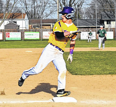 Dolen Fults rounds third on his way to scoring a run during Butler's win over Greenville on Thursday.