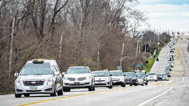 Vandalia Police Chief Doug Knight was laid to rest at Polk Grove Cemetery Thursday afternoon.