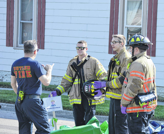 Vandalia and Butler Township Fire personnel participated in an emergency operations drill on Friday on Kenbrook Drive and Perry Street.