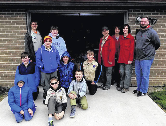 Boy Scouts from Troop 307 delivered food to the Vandalia-Butler Food Pantry as part of the Scouting for Food program.