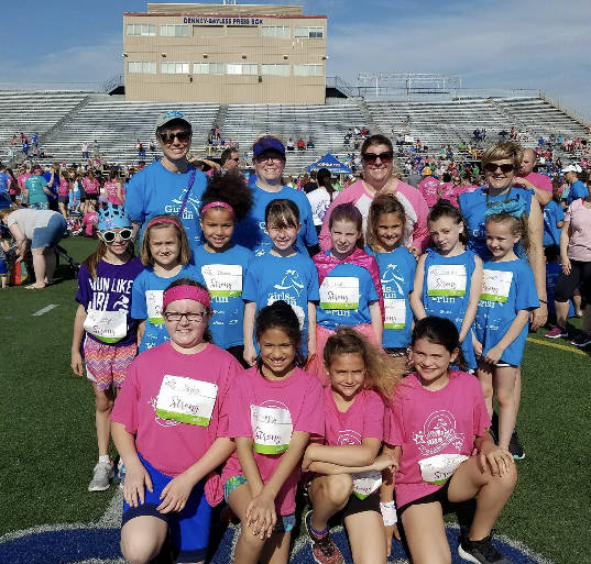 Third grade Girls on the Run from Demmitt and Helke Elementary Schools participated in a 5K run at Welcome Stadium on Saturday, May 12. Girls on the Run encourages positive emotional, social, mental and physical development.