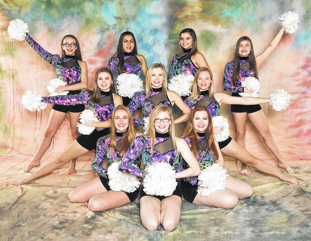 The Butler Kickline recently competed in the Showcase America Unlimited Nationals at the Bank of Kentucky Center in Highland Heights. Pictured in first row is Captain Avery Gunderson; second row, left to right, Co-Captains Emma Ney and Sally Slaton, third row, left to right, Makenzie Detrick, Julia Staub, Haleigh Gross; fourth row, left to right, Brianne Lytle, Sofia Valdespino, Maddie Cagg, and Maritza Scott.