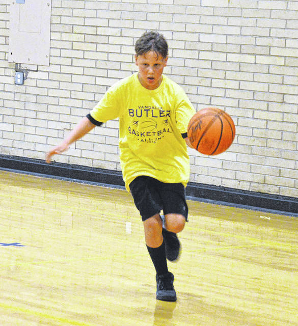 Over 80 boys descended on the Butler Student Activities Center the week of June 11 for the annual Butler Aviator Boys Basketball Camp. The camp was led by Butler head coach DJ Wyrick and his coaching staff as well as members of the Butler basketball team.