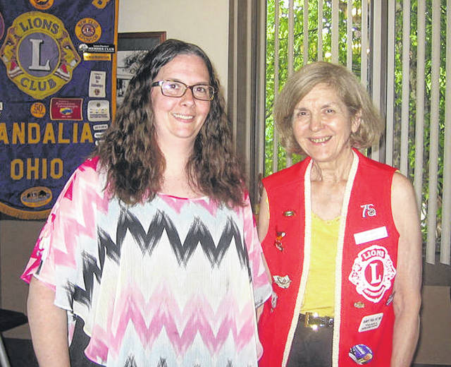 Pictured left to right are Amanda Carl and Lions Club Program Chair Dee Smith.